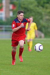 NEWPORT, WALES - Wednesday, May 27, 2015: North WPL Academy Boys' Lloydd Hughes during the Welsh Football Trust Cymru Cup 2015 at Dragon Park. (Pic by David Rawcliffe/Propaganda)