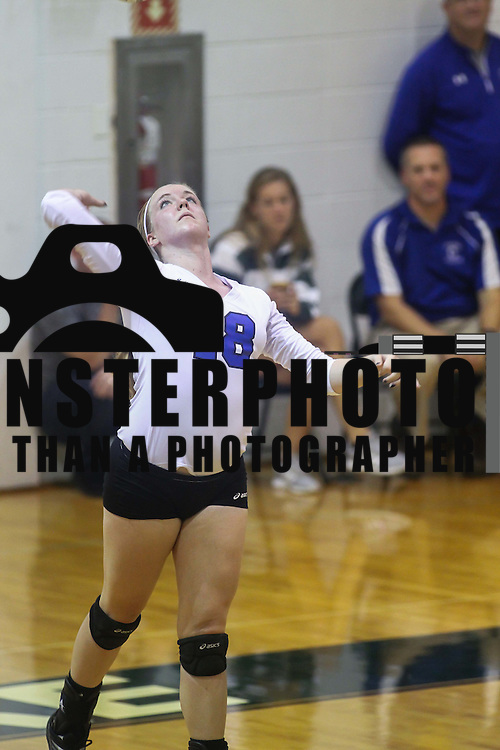 Charter Kristen	Edmiston (18) attempts to serve during the 2nd Round of the 2015 DIAA Girls Volleyball Tournament Saturday, Nov. 07, 2015 at Archmere Academy in Claymont.