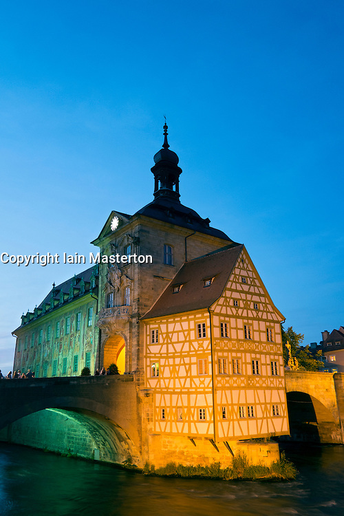 Old town hall or Altes Rathaus in Bamberg Bavaria Germany