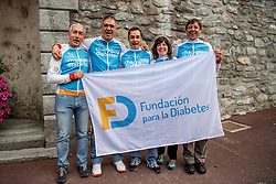 16-09-2017 FRA: BvdGF Tour du Mont Blanc day 7, Beaufort<br /> De laatste etappe waar we starten eindigen we ook weer naar een prachtige route langs de Mt. Blanc / Elias, Marcos, Gorka, Beatriz, Alberto