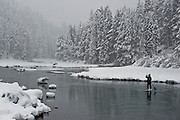 """Winter SUP on the Truckee River 2"" - Peter Spain Stand Up Paddleboarding on the Truckee River"