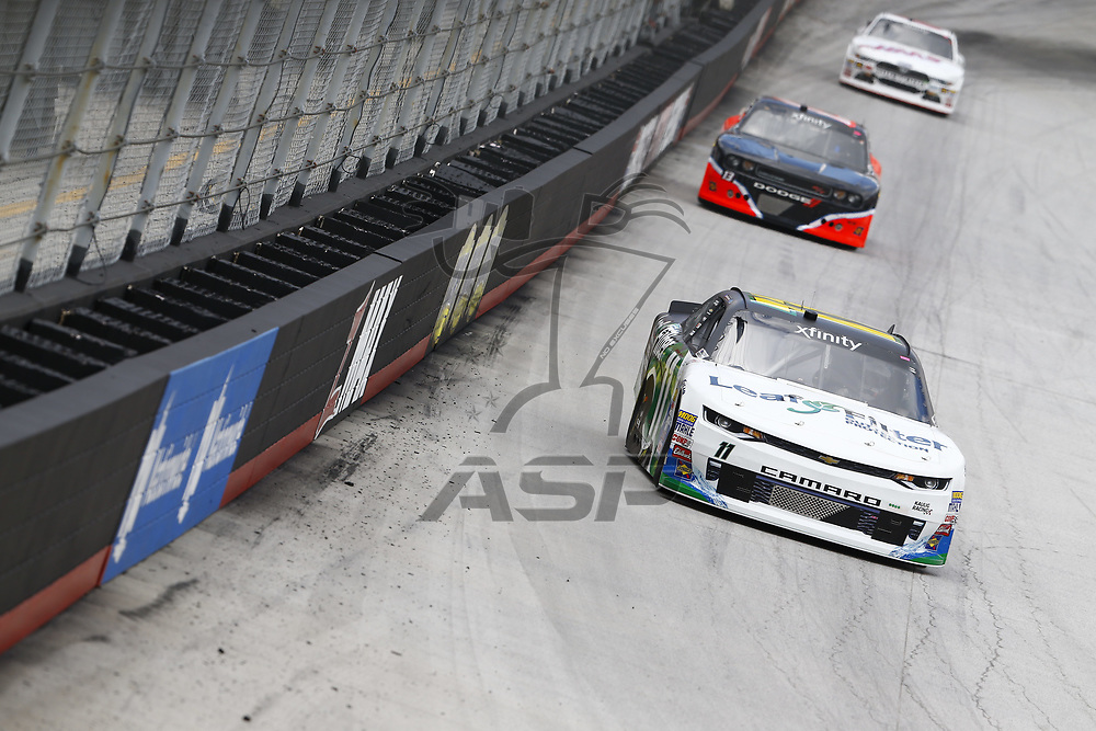 August 17, 2017 - Bristol, Tennessee, USA: Blake Koch (11) brings his race car down the front stretch during the Food City 300 at Bristol Motor Speedway in Bristol, Tennessee.