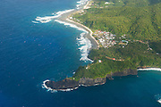 Aerial of Tutuila island in American Samoa, South Pacific