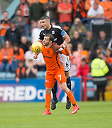 July 30th 2017, Dundee, Scotland; Betfred Cup football, group stages, Dundee versus Dundee United; Dundee&rsquo;s Darren O&rsquo;Dea beats Dundee United's Paul McMullan in the air <br /> <br />  - Picture by David Young - www.davidyounghoto@gmail.com - email: davidyoungphoto@gmail.com