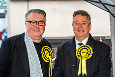 Keith Brown on the campaign trail, Auchterarder, 25 November 2019