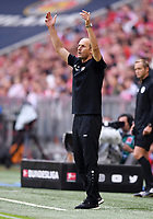 Fussball  1. Bundesliga  Saison 2018/2019  3. Spieltag  FC Bayern Muenchen - Bayer 04 Leverkusen       15.08.2018 Trainer Heiko Herrlich (Bayer 04 Leverkusen)  ----DFL regulations prohibit any use of photographs as image sequences and/or quasi-video.----