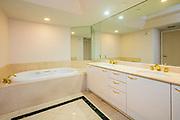 Interior of a condominium, bathroom, Photographed in Las Vegas, Nevada USA