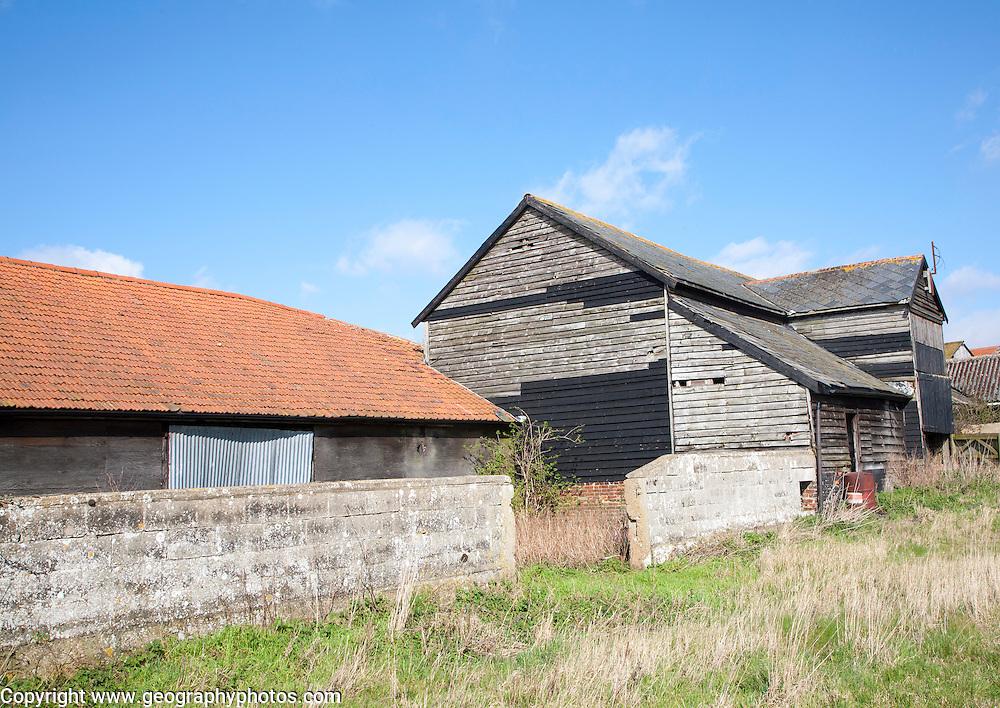 Old barns in Ramsholt, Suffolk, England