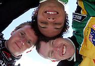 Tri Nations (L-R) A1 drivers, Jonny Reid (NZ), Adrian Zaugg (SA) and John Martin (AUS). A1 GP official practice and qualifying, Taupo, New Zealand, Saturday 19 January 2008. Photo: Renee McKay/PHOTOSPORT/SPORTZPICS