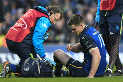 December 16, 2017 - Dublin, Ireland - Injured Johnny Sexton of Leinster team during Leinster vs Exeter Chiefs - the  European Rugby Champions Cup rugby match at Aviva Stadium...On Saturday, 16 December 2017, in Dublin, Ireland. (Credit Image: © Artur Widak/NurPhoto via ZUMA Press)