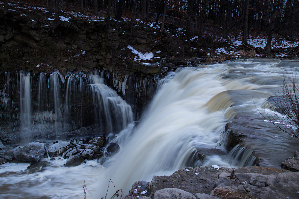 Long exposure of Upper Balls Falls waterfall in the Niagara Region