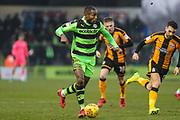 Forest Green Rovers Dale Bennett(2) runs forward during the EFL Sky Bet League 2 match between Forest Green Rovers and Cambridge United at the New Lawn, Forest Green, United Kingdom on 20 January 2018. Photo by Shane Healey.