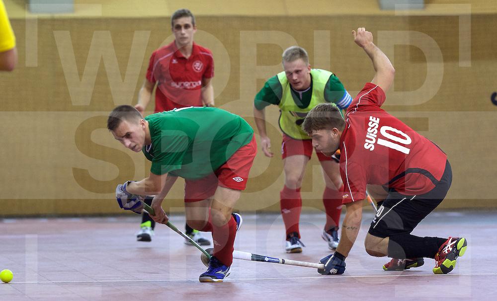 2017 EuroHockey Indoor Junior Championship (M)<br /> 10 Switzerland - Belarus<br /> Foto: Uladzislau Kochkin (L) and Yves Morard.<br /> FFU PRESS AGENCY COPYRIGHT FRANK UIJLENBROEK
