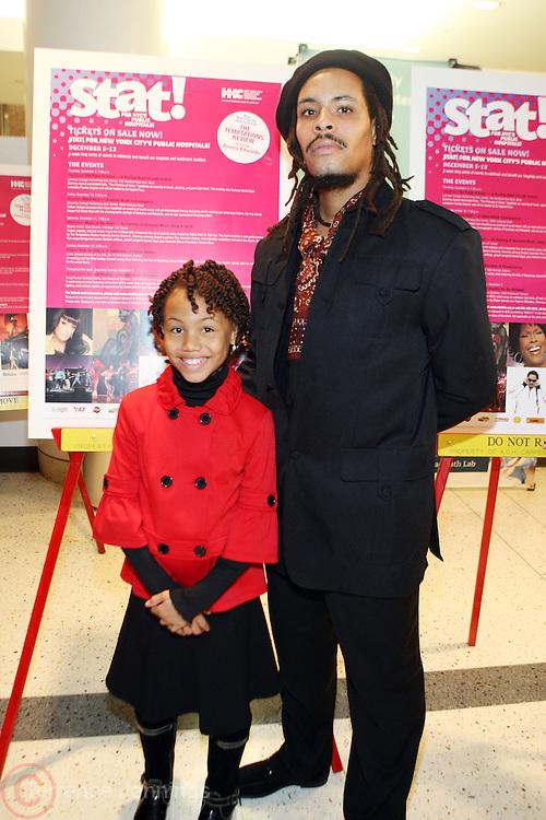 29 November 2010- New York, NY- Ebonii Edwards and Omar Edwards at the' Stat! For NYC's Public Hospitals! ' Press Conference held at Kings County Hospital on November 29, 2010 in Brooklyn, NY. Photo Credit: Terrence Jennings