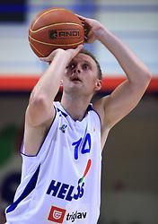 Jure Mocnik (14) at NLB League ABA basketball match between KK Helios Domzale and KK Zagreb Croatia Osiguranje, on October 31, 2008, in Domzale, Slovenia.  (Photo by Vid Ponikvar / Sportida)