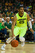 WACO, TX - MARCH 5: Al Freeman #25 of the Baylor Bears drives to the basket against the West Virginia Mountaineers on March 5, 2016 at the Ferrell Center in Waco, Texas.  (Photo by Cooper Neill/Getty Images) *** Local Caption *** Al Freeman