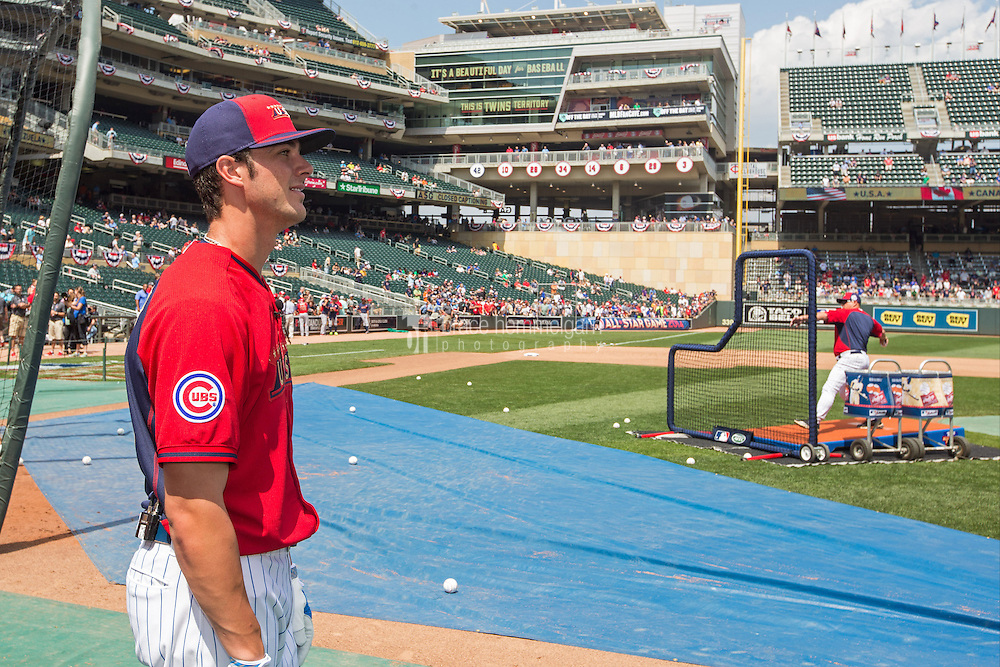 MINNEAPOLIS, MN- JULY 13: Kris Bryant #23 of the U.S. Team during the SiriusXM All-Star Futures Game at Target Field on July 13, 2014 in Minneapolis, Minnesota. (Photo by Brace Hemmelgarn) *** Local Caption *** Kris Bryant