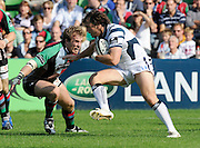 Twickenham, GREAT BRITAIN, Quins, Will SKINNER, Tackles,  Luke ARSCOTT, during the Guinness Premiership match,  Harlequins vs Bristol Rugby, at The Stoop Stadium, Surrey on Sat 13.09.2008. [Photo, Peter Spurrier/Intersport-images]