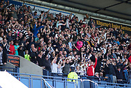 Dundee fans celebrate the winning goal - Kilmarnock v Dundee in the Ladbrokes Scottish Premiership at Rugby Park, Kilmarnock, Photo: David Young<br /> <br />  - &copy; David Young - www.davidyoungphoto.co.uk - email: davidyoungphoto@gmail.com