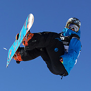 Antoine Truchon, Canada, in action during the Snowboard Slopestyle Men's  competition at Snow Park, New Zealand during the Winter Games. Wanaka, New Zealand, 21th August 2011. Photo Tim Clayton