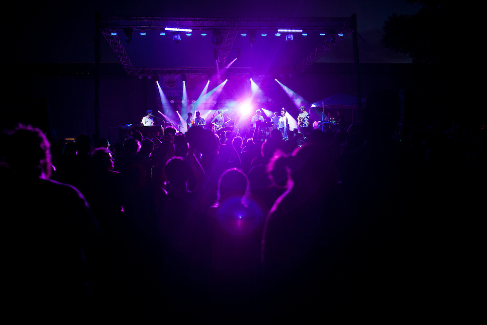 Euforquestra performs the first of its two shows at Camp Euforia on Friday evening, July 17, 2015.