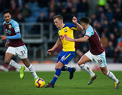 James Ward-Prowse of Southampton (C) in action - Mandatory by-line: Jack Phillips/JMP - 02/02/2019 - FOOTBALL - Turf Moor - Burnley, England - Burnley v Southampton - English Premier League