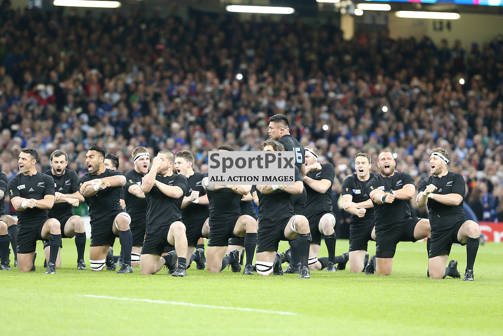 during the Rugby World Cup Quarter Final, New Zealand v France, Saturday 17 October 2015, Millenium Stadium, Cardiff (Photo by Mike Poole - Photopoole)