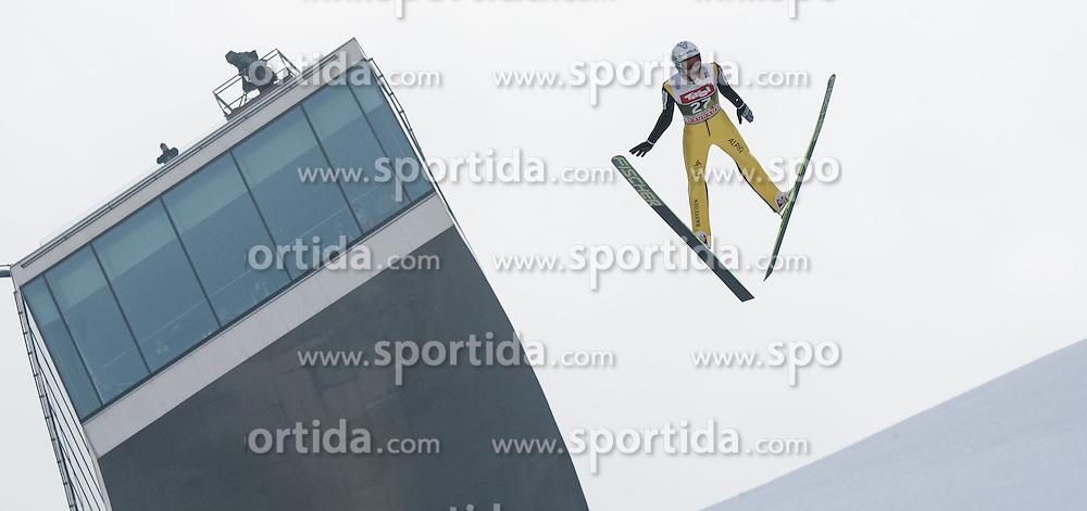 03.01.2015, Bergisel Schanze, Innsbruck, AUT, FIS Ski Sprung Weltcup, 63. Vierschanzentournee, Innsbruck, Training, im Bild Gregor Deschwander (SUI) // Gregor Deschwander of Switzerland soars through the air during a training session for the 63rd Four Hills Tournament of FIS Ski Jumping World Cup at the Bergisel Schanze in Innsbruck, Austria on 2015/01/03. EXPA Pictures © 2015, PhotoCredit: EXPA/ Jakob Gruber