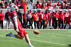 13 September 2014:  punter CJ Laros during an NCAA football game between the Eastern Illinois Panthers and the Illinois State Redbirds at Hancock Stadium in Normal IL