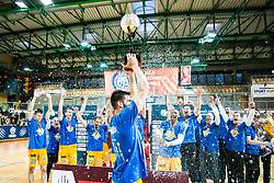 KK SIXT Koper Celebrates basketball match between Basketball - KK Petrol Olimpija Ljubljana and KK Sixt Primorska in Round #3 of Liga Nova KBM za prvaka 2018/19, on May 24th, 2019 in Arena Bonifikai, Slovenia Photo by Peter Podobnik / Sportida