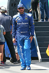 July 29, 2018 - Long Pond, PA, U.S. - LONG POND, PA - JULY 29:  Monster Energy NASCAR Cup Series driver Martin Truex Jr. Auto-Owners Insurance Toyota (78) during driver introductions prior to the Monster Energy NASCAR Cup Series - 45th Annual Gander Outdoors 400 on July 29, 2018 at Pocono Raceway in Long Pond, PA. (Photo by Rich Graessle/Icon Sportswire) (Credit Image: © Rich Graessle/Icon SMI via ZUMA Press)