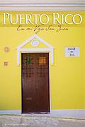 Door of Old San Juan on yellow building