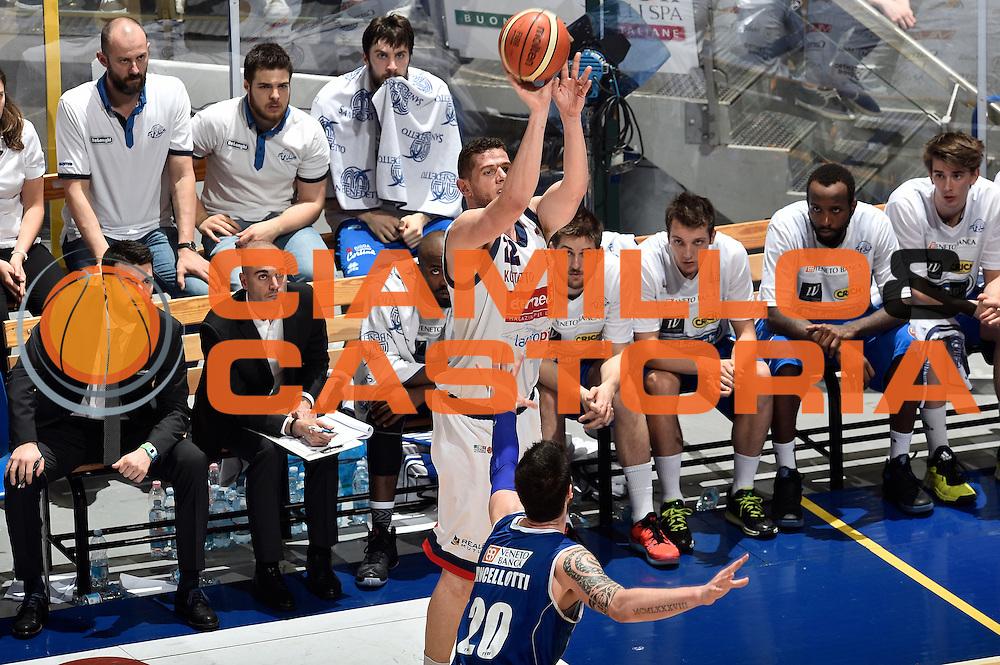 DESCRIZIONE : LNP Playoff Serie A2 Citroen 2015- 2016 Semifinale Gara 3 Eternedile Bologna - De Longhi Treviso<br /> GIOCATORE : Valerio Amoroso<br /> CATEGORIA : tiro three points<br /> SQUADRA : Eternedile Bologna<br /> EVENTO : LNP Playoff Serie A2 Citroen 2015- 2016<br /> GARA : Playoff Semifinale Gara 3 Eternedile Bologna - De Longhi Treviso<br /> DATA : 04/06/2016<br /> SPORT : Pallacanestro <br /> AUTORE : Agenzia Ciamillo-Castoria/Max.Ceretti