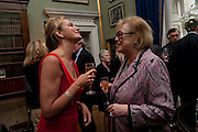 CAROLINE MICHEL; LADY ANTONIA PINTER, David Campbell and Knopf host the 20th Anniversary of the revival of Everyman's Library. Spencer House. St. James's Place. London. 7 July 2011. <br /> <br />  , -DO NOT ARCHIVE-© Copyright Photograph by Dafydd Jones. 248 Clapham Rd. London SW9 0PZ. Tel 0207 820 0771. www.dafjones.com.