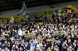 Oxford fans celebrate at full time. - Mandatory byline: Alex James/JMP - 10/01/2016 - FOOTBALL - Kassam Stadium - Oxford, England - Oxford United v Swansea City - FA Cup Third Round