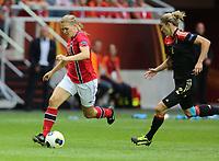 Fotball , EM , Norge - Tyskland 28.juli 2013 , kvinner ,  Sverige , Stockholm , Solna , europamesterskap, finale<br /> Ingvild Isaksen<br /> Foto: Ole Marius Fjalsett