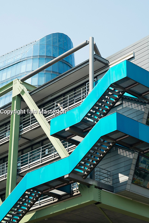 Modern architecture at office of Ogilvy in Medienhafen or Media Harbour property development in Dusseldorf Germany