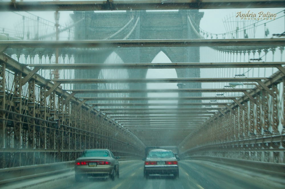 Inclement Weather over the Brooklyn Bridge