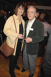 PANDORA WHITE and actor ANDREW SACHS at the Orion Authors Party held at the Royal Opera House, Covent Garden, London on 11th February 2008.<br />