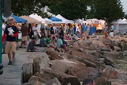 Along the Shoreline at Twilight. Gathering of the Vibes 2010, Seaside Park, Bridgeport, Connecticut