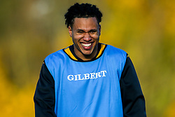 Marcus Watson of Wasps during training ahead of the European Challenge Cup fixture against SU Agen - Mandatory by-line: Robbie Stephenson/JMP - 18/11/2019 - RUGBY - Broadstreet Rugby Football Club - Coventry , Warwickshire - Wasps Training Session