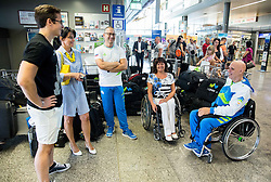 Ales Kosmac and Franc Pinter Anco during departure of Slovenian Paralympic Team to Paralympic Games Rio 2016, on August 31, 2016, in Airport Joze Pucnik, Brnik, Slovenia. Photo by Vid Ponikvar / Sportida