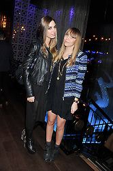 Left to right, AMBER LE BON and BECKY TONG at the ZEO 'Just January' Party held at the Buddha Bar, 145 Knightsbridge, London SW1 on 31st January 2013.