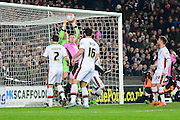 MK Dons goal keeper David Martin looks to have taken the ball over his line  during the The FA Cup Third Round Replay match between Milton Keynes Dons and Northampton Town at stadium:mk, Milton Keynes, England on 19 January 2016. Photo by Dennis Goodwin.