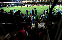 Worcester Warriors run out for the Anglo-Welsh Cup fixture with Bristol Rugby - Mandatory by-line: Robbie Stephenson/JMP - 04/11/2016 - RUGBY - Sixways Stadium - Worcester, England - Worcester Warriors v Bristol Rugby - Anglo Welsh Cup