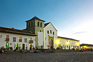 Plaza Mayor, largest public square in Colombia, colonial town of Villa de Leyva, Colombia