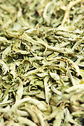 Dried lemon verbena leaves, Fez Medina, Morocco, 2016-12-03.<br />