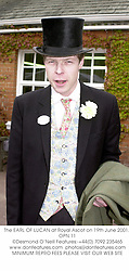 The EARL OF LUCAN at Royal Ascot on 19th June 2001. OPN 11