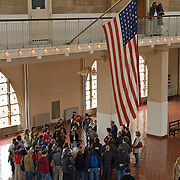 Tour Group at Ellis Island