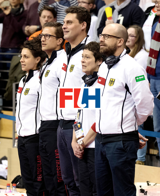 BERLIN - Indoor Hockey World Cup<br /> Final: Netherlands - Germany<br /> foto: Akim Bouchouchi.<br /> WORLDSPORTPICS COPYRIGHT FRANK UIJLENBROEK